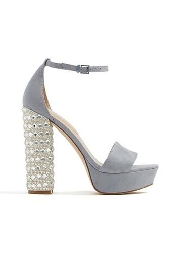 Topuk Detaylı Platform Kalın Topuklu Ayakkabı-Aldo
